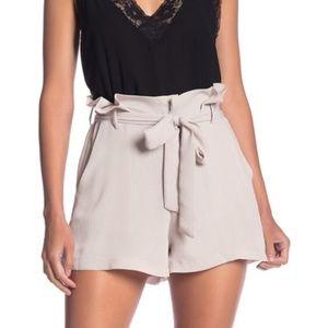 LUSH Taupe Paperbag Tie Shorts